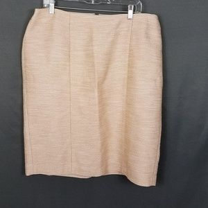 4 for $10- Talbots peach skirt size 16W